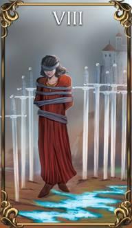 Resultado de imagem para 8 of swords tarot