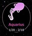 Aquarius 1/20-2/18